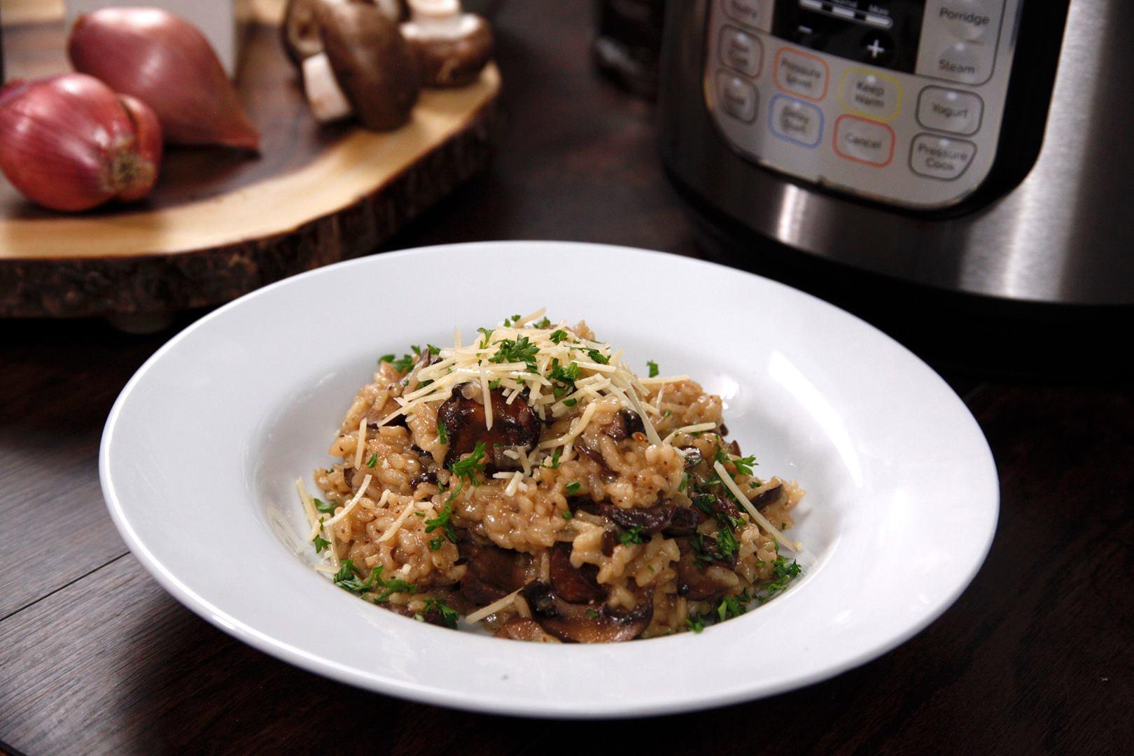 Instant Pot Balsamic Mushroom Risotto Cooking Tv Recipes