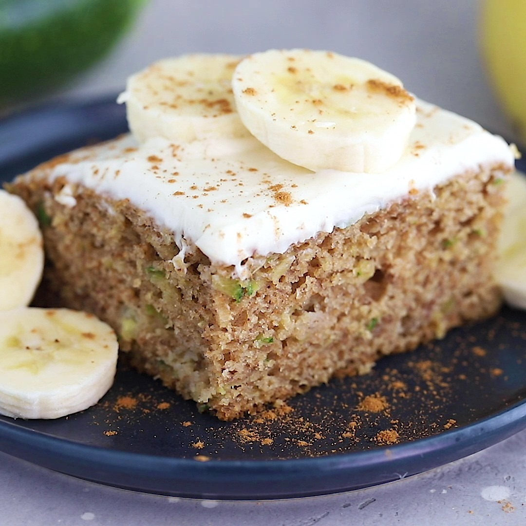 Banana Zucchini Cake With Cream Cheese Frosting Cooking