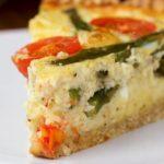 Easy Cast-Iron Cheesy Asparagus Quiche
