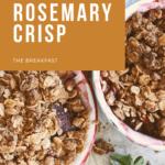 Plum-Rosemary-Crisp with Oat-Spelt Topping